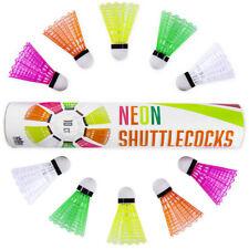 Neon Plastic Shuttlecocks | 10-pack Highly-visible Bright Badminton Birdies