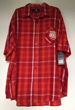 NWT Rocawear Classic Plaid Red Short Sleeve Men's Shirts Sz 4XB