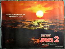 JAWS 2 ORIG 1978 45X60 SUBWAY MOVIE POSTER ROY SCHEIDER LORRAINE GARY RED OCEAN