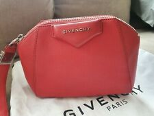 Givenchy Antigone Red Leather Clutch Wristlet Bag