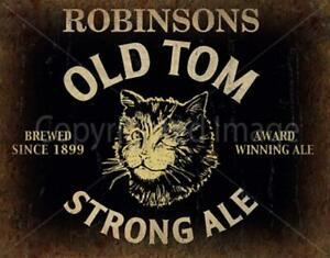 Robinson's Old Tom Ale Beer METAL TIN SIGN POSTER WALL PLAQUE