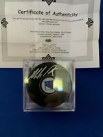 Mike Richter signed N.Y. Rangers puck with COA