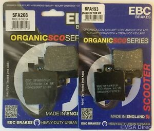 EBC FRONT and REAR Brake Pads Fits YAMAHA NS50 / YQ50 / Aerox 50 (1997 to 2020)