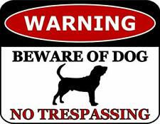 Warning Beware of Dog No Trespassing Bloodhound Dog Sign SP2781