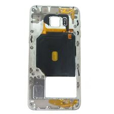 Carcasa Intermedia Samsung Galaxy S6 Edge Plus SM-G928F Gris Plata Original Usad