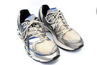 Asics Gel-Nimbus 12 IGS Mens Gray Blue Running Athletic Walking Shoes Size 14