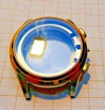 Neuwertiges Stahlgehäuse Lünette vergoldet passend für Valjoux 7750,