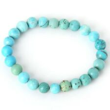 Bracelet en pierre naturelle turquoise, perles de 8 mm, diam : 5,5 cm, neuf