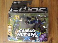"""G.I.Joe Combat Heroes COURTNEY """"COVER GIRL"""" KRIEGER & DESTRO Figures Brand New"""