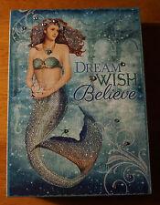 Dream Wish Believe Nautical Mermaid Princess Castle Beach Home Decor Sign New