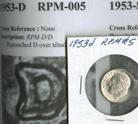 1953 d/d RPM #5 ERROR CH BU Roosevelt Dime SUPER NICE Flashy SILVER Coin  NR