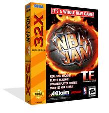 NBA Jam Tournament Edition Sega 32x Replacement Box Case + Cover Art Work NoGame