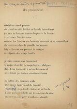 TZARA (Artist): Juste Present - Hand corrected proofs, w signed Le Fruit Permis