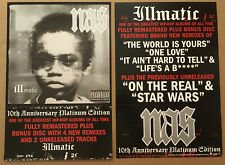NAS Rare 2004 DOUBLE SIDED PROMO POSTER FLAT for Illmatic CD MINT 18x24 USA