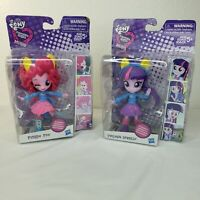 My Little Pony Equestria Girls Minis Twilight Sparkle Pinky Pie Lot 2 NIB MLP