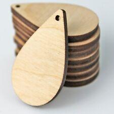 Todos Los Tamaños (12pc a 100pc) inacabado madera recorte sólido Lágrima Pendientes espacios en blanco