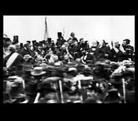 Abraham Lincoln Gettysburg Address PHOTO 1863 Civil War President Amidst Crowd