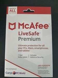 MCAFEE LiveSafe Premium - 1 year for unlimited devices