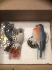 Danbury Mint Chickadee & Blue Bird Ornaments-Nib