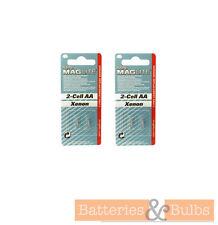 Mini MAGLITE Antorcha AA 2 celdas de reemplazo Xenon Bulbs | Paquete de 4