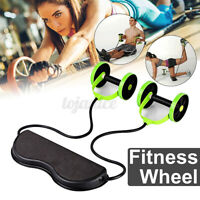 Abdominal Abs Roller Waist Wheel Handle Fitness Exercise Gym Workout Machine US