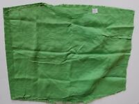 Vintage Green Eyelet Salvage Fabric Floral A27 Remnant Cutter Sew Doll