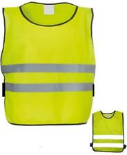 CHILDRENS HI-VIS REFLECTIVE FLUORESCENT SAFETY VEST HEIGHT 120-152CM UK SELLER