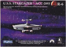 STAR TREK 30 YEARS PHASE 1 GOLD REGISTRY PLAQUE R6 USS STARGAZER NCC-2893
