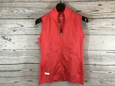 Adidas Womens Coral Pink Golf Tech Wind Full Zip Vest Size Small NWT