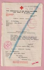 Red Cross letter, German occupation of Guernsey 1943, Le Cheminant.