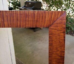 c1840 Excellent American Burl Tiger Maple Primitive Fraktur Folk 10 x 12 Frame