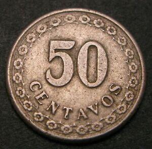 PARAGUAY 50 Centavos 1925 - Copper/Nickel - VF- - 1813