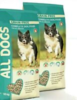 All Dogs GETREIDEFREI Hundefutter aus Dänemark HUHN 2x10kg Junior, Adult, Senior