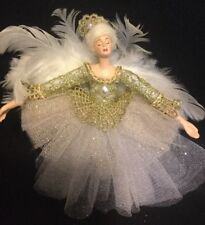 Katherine's Collection Royal White Poseable Fairy Christmas Ornament NEW  (B)