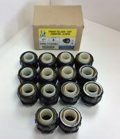 """Lot of 14 Arlington NMLT100 1"""" Straight PVC Liquid-Tight Connectors Black UV"""