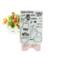 Tableware DIY Transparent Silicone Clear Stamps Scrapbooking Album Cards Decor X