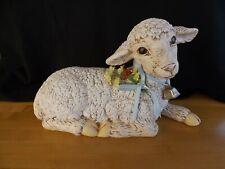 "Large Sheep Lamb Ceramic Handpainted Details12 3/4"" Animal Figurine"