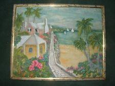 3 Vintage Mid Century Relief Hawaiiana Tropical Plaque Art