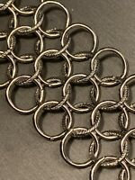 """Vintage Wide Intricate Link Silver Tone  Open Chain Link Bracelet Clasp 8"""""""