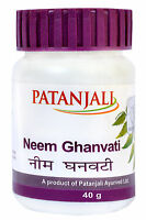 Patanjali Neem Ghanvati Tablets Beneficial in Skin Diseases , 40 gm Pack