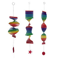 3Pcs/Set Wind Spinner, Bamboo, Handmade Colorful Hanging Yard Decoration