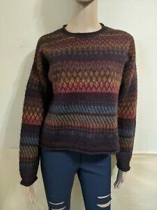 Peruvian Connection Alpaca  Sweater Size Small Color Brown /Multicolor