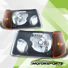 For 2001-2011 Ford Ranger Black Headlights + Corner Signal Lights Pair Set