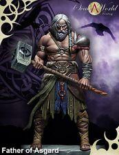 SCALA 75 Padre di Asgard Mitologia Norvegese Odin 75mm Kit in metallo non verniciato