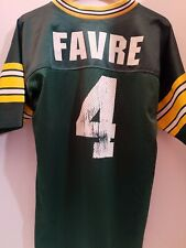 VINTAGE GREEN BAY PACKERS Brett Favre #4 LOGO ATHLETIC JERSEY YOUTH LARGE