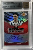2017-18 Panini Totally Certified Lonzo Ball RC Auto (Bgs 10) On-Card BGS Mint