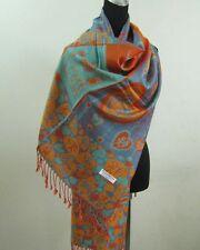 Pashmina foulard châle écharpe étole Cachemire laine soie s64