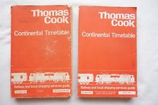 1982 & 1984 Thomas Cook Cooks Continental Timetable Railway Shipping Services x2