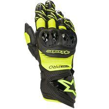 Alpinestars GP Pro R3 Leather Black Fluo Yellow Race Motorcycle Gloves New