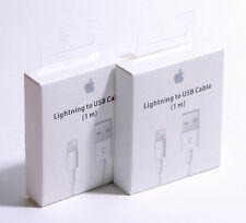 2x NEW GENUINE Apple Lightning-USB 1M Cable Charger for iPhone 7 6 6S Plus 5 5S